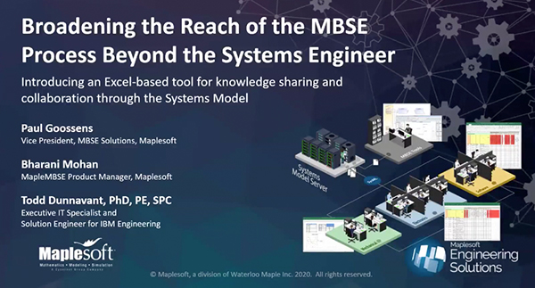 Broadening the Reach of the MBSE Process Beyond the Systems Engineer